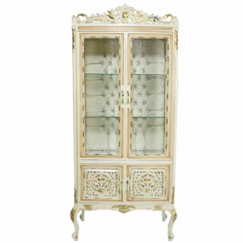 CASE BAROQUE STYLE CREAM GOLD GLASS CASE #MB4